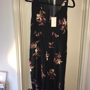 A New Day Black Floral Jump suit